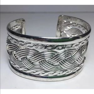 Jewelry - Mexico sterling silver wide braided cuff bracelet